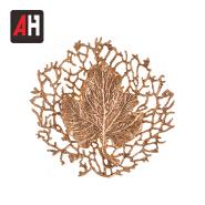 Brilliant gold brown lighting leaf shape indoor brass wall light