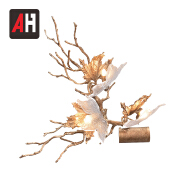 New design creative contemporary copper wall lamp shade for cafe living room restaurant