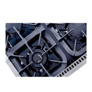 36 inch Black Porcelain Drip Pan gas range top with 6 burner