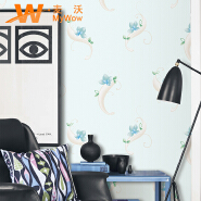 Plain pattern simple design waterproof mouldproof PVC kids wallpaper