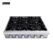 Multi Cooktops 6 Burners Blue Flame Counter Top Gas cooking Top