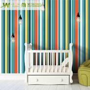A29-6 1.06 Korea Size Stripe PVC Wallpaper