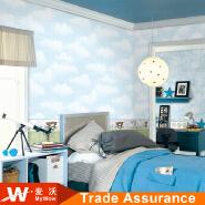 light cotton cloud children wallpaper for kids room