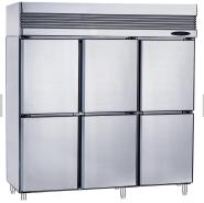 Rainbow stainless steel air-cooled 6 door or 3 full door commercial kitchen refrigerator freezer -18