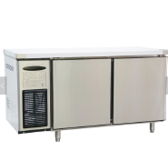 Rainbow air cooling stainless steel two door 1500mm counter table cooler 0-2degree