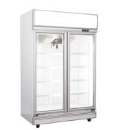 2 glass door upright air-cooling commercial ice cream/fish/meat/gelato display freezer