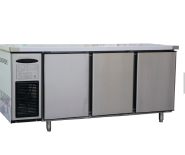 Rainbow air cooling stainless steel 3 door 1800mm counter table cooler 0-2degree