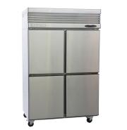 Rainbow stainless steel air-cooled 4 door or 2 full door commercial kitchen refrigerator freezer -18