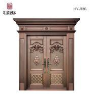 Luxury copper material main gate design home