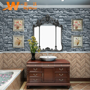 A5-14P26 Brick design waterproof 3d stone pvc wallpapers decor
