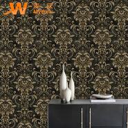 A49-19P36 Damask design embossed vinyl wallpapers glitter