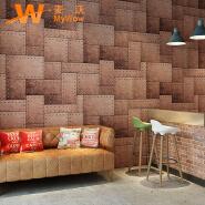 A5-14P01New arrival pvc vinyl 3d waterproof wallpaper for restaurant coffee shop