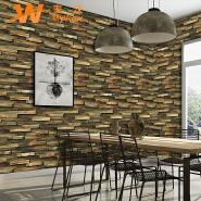 A62-24P12 restaurant dining room decoration 3d vinyl PVC wallpaper wood