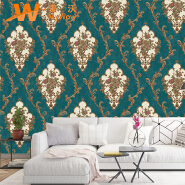 A49-18P13 House decor Damask design pvc embossed wall paper