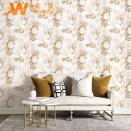 A22-26P32 Royal flower non woven embossed wallpaper 1.06*15.6m