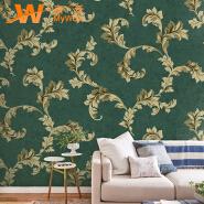 A49-18P45 Waterproof heat insulation vinyl embossed wallpaper decor