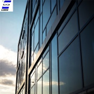 Aluminum frame double glass powder coating curtain wall office building