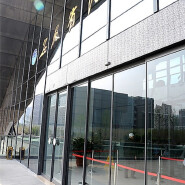 Building exterior facade reflective glass Invisible frame aluminum curtain wall system