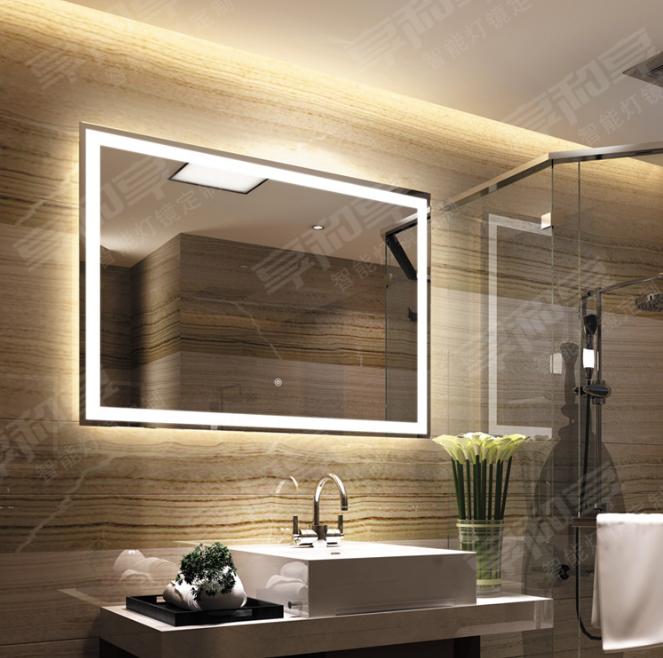 Multi-function bluetooth music waterproof and anti-fog bathroom mirror customization