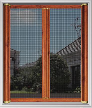 Invisible anti-mosquito screen window