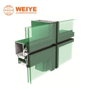 Weiye(60)120 fully visible frame curtain wall aluminum profile for curtain wall