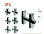 Stick built aluminum glass curtain wall profile