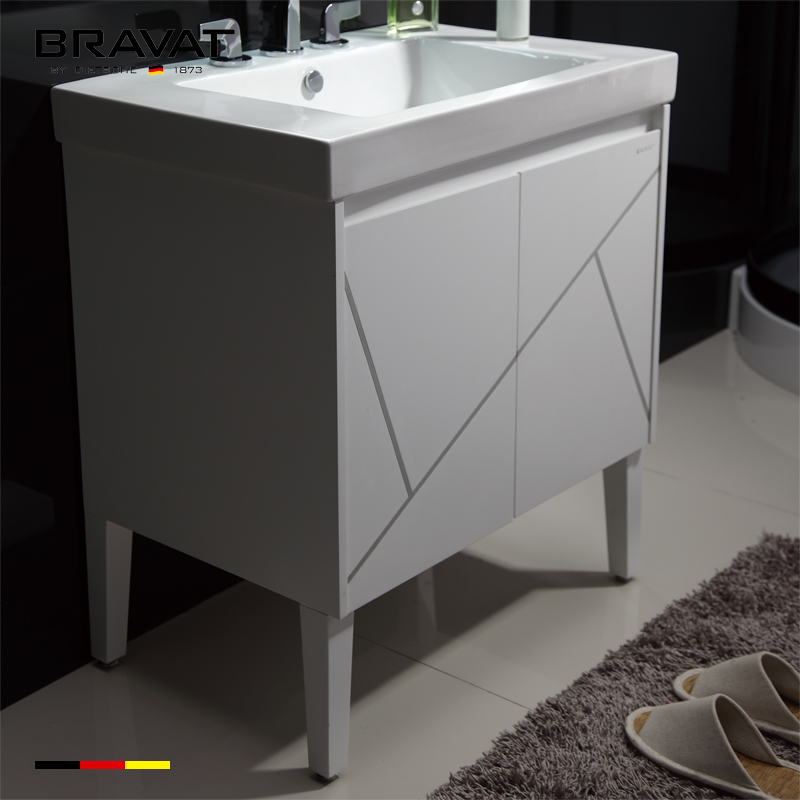 12 Inch Deep Bathroom Vanity No Top Sink Vanity Floor Mounted V32310w W On Buildmost