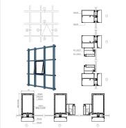 Weiye (65)110 single glass visible frame glass curtain wall aluminum profile