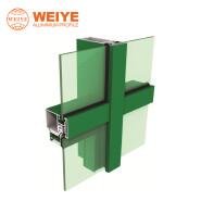 China top quality Foshan aluminum factory custom made 6063 aluminum curtain wall profile for comerci