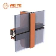 China factory best price construction materials powder coat semi-exposed glass curtain wall aluminum