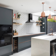 Beech Wooden Kitchen Cabinet