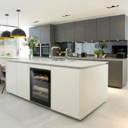 Modular I Shaped Lacquer finish Kitchen cabinet