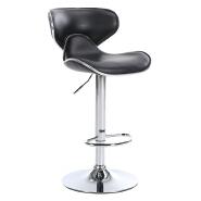 PU Seats Adjustable Butterfly Bar Stool Swivel Metal Bar Chair