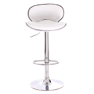 White PU cover butterfly barstool bar chair mid back leather barstool set with metal base