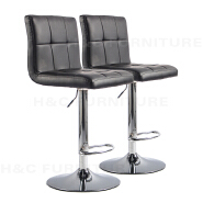 Economical PU Cover Cuban Bar Stool With Metal base for Kitchen