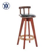 vintage pu wood/wooden bar stool chair swivel bar stool