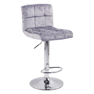 Economical Fabric Cover Cuban Bar Stool With Metal base for Kitchen