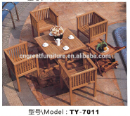 Outdoor Wood Dining Chair/Dinning Table Solid Wood/ Wooden Picnic Table And Bench