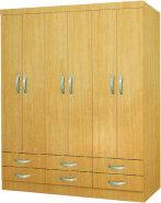 MDF PVC cheap wardrobe closet with drawer 202004