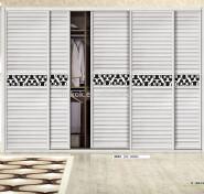 4-door wooden adult bedroom wardrobe design