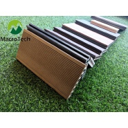 ODM OEM Customized Anti-uv waterproof outdoor wpc solid wood plastic composite decking flooring