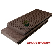 140*25mm Environmental recycling reuse material outdoor wpc solid deck flooring