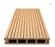 Customized WPC Manufacturer solid grooved wood composite Flooring Decking