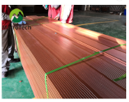 Embossing Easily Assembled teak wpc decking manufacturer