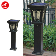 1W Bollard IP65 Waterproof Outdoor LED Solar Lawn Garden Light For Sale