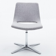 Modern Designed fabric cover stainless steel base home waiting room swivel leisure chair for living