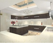 UV door plywood carcass Kitchen Cabinet Supplier in Guangzhou wooden sideboard