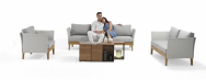 Couture Jardin Sdn Bhd Parlor Sofa/Table