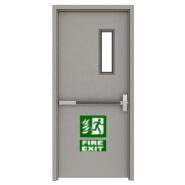 XSF 1.5 Hour Galvanized Fireproof Steel Door with Glass Panel with Panic Bar