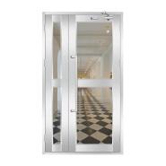 XSF 1 Hour Fire Rated Glass Door Stainless Steel Fire Glass Door